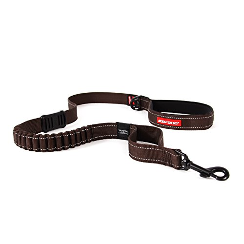 (EzyDog ZERO SHOCK Leash - Best Shock Absorbing Dog Leash, Control & Training Lead (48-Inch, Chocolate))