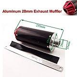 Aquiver Auto Parts New Aluminum Red 28mm Exhaust