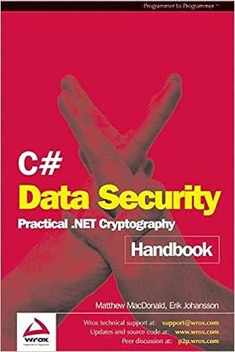 Amazon C Data Security Handbook 9781861008015 Matthew Macdonald Eric Johansen Books