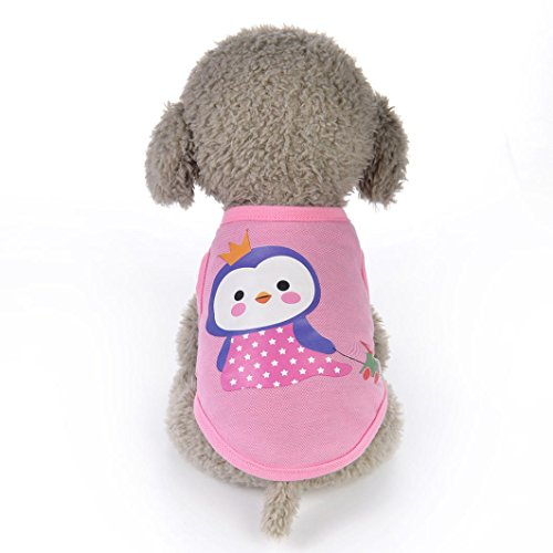 OOEOO Pet Clothes,Cute Animal Shirt Apparel Cartoon Vest Dog Cat Puppy Costume Clothing (Penguin, XS)