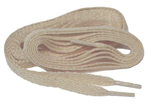 Tan Sand ProATHLETIC (TM) FLAT Sneaker Schnürsenkel Schnürsenkel Schnürsenkel - (2 Paar Pack)