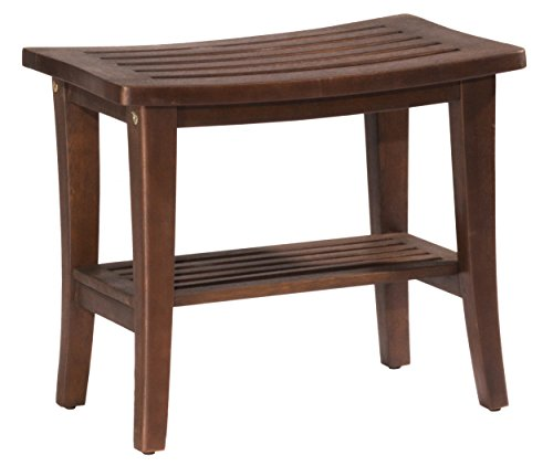 Hillsdale 51028 Preston Shower Vanity Stool, (Walnut Bathroom)