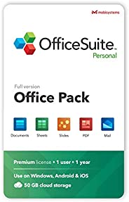 OfficeSuite Personal Compatible with Microsoft® Office Word® Excel® & PowerPoint® and Adobe® PDF - 1 Year