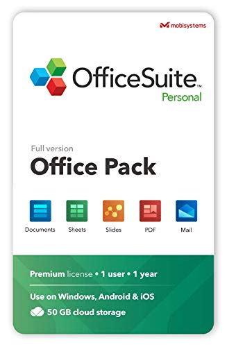 OfficeSuite Personal Compatible with Microsoft® Office Word Excel & PowerPoint® and Adobe PDF for PC Windows 10, 8.1, 8…