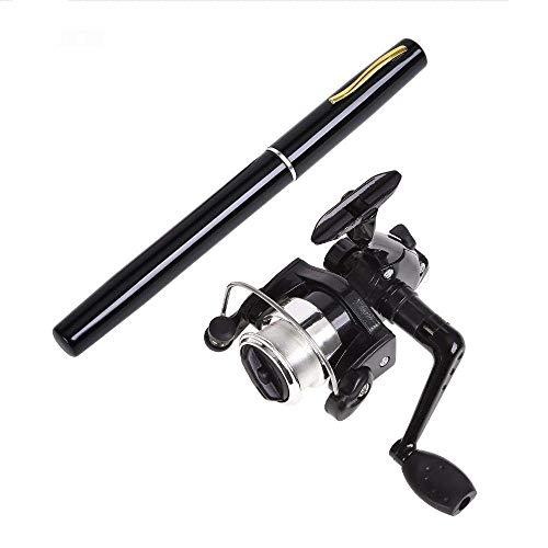3.2Ft Mini Pocket Pen Shape Fishing Rod 6 Aluminum Alloy Portable Baitcasting Rods Pole with Fishing Reel Set Combos.