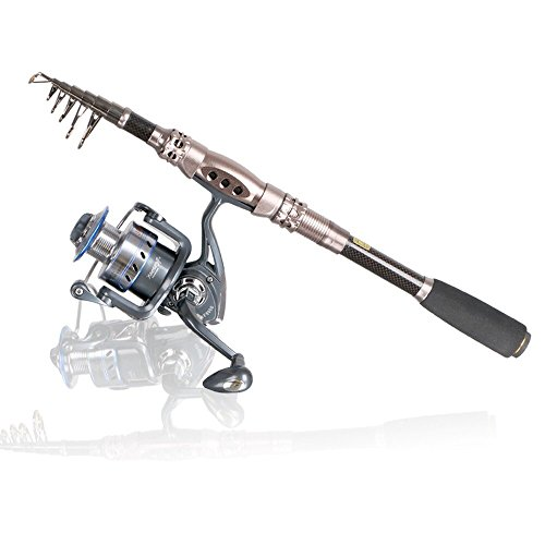 Power Stick Surf Rod (Telescopic Fishing Rod Eocusun Ultra Light 5 Types of Adjustable Length Portable Carbon Fiber Travel Spinning Fishing Pole for Saltwater and Freshwater(1pc)(1.8m/70.2inches))