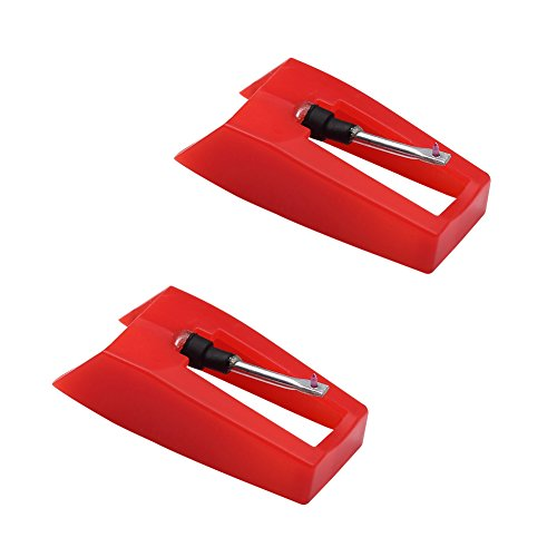 Record Player Needle, Diamond Stylus Replacement for Turntable, LP, Phonograph(Pack of 2) ()