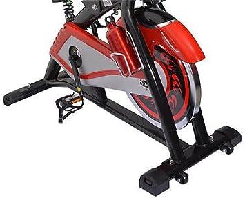 HOMCOM Bicicleta Estatica Spinning Fitness Gimnasio Bici Entrenador Carga 150Kg LED: Amazon.es: Deportes y aire libre