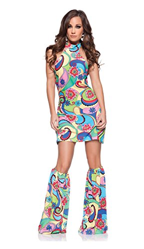 Underwraps Costumes Women's Retro Hippie Costume - Far