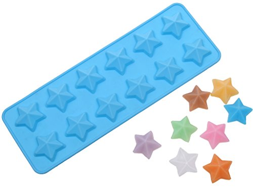 2 Pcs DIY Star Muffin Sweet Candy Jelly Ice Die Silicone Cake Mould Baking Pan Tray Mini Cube Craft Fondant Mold -Colors Random