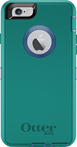 OtterBox Defender Case for iPhone 6s and iPhone 6 (NOT Plus) Case only/No Holster - Royal Blue/Light Teal