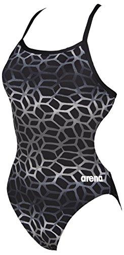Arena Mujer polycarbonite II, Bañador para mujer Negro (Black/Grey)