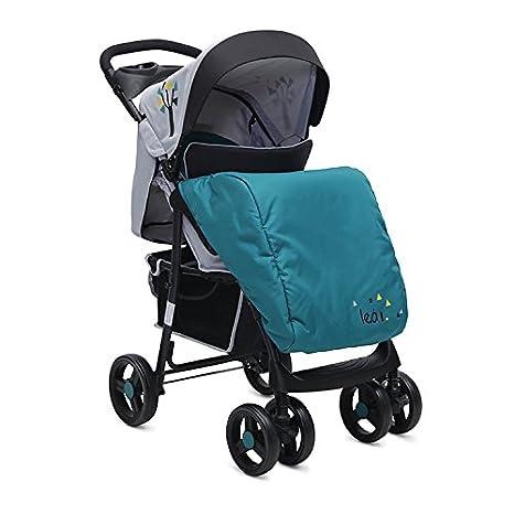 Kombikinderwagen Lea 2 in 1 mit Babyschale, Vorderräder 360° schwenkbar (Rot) Moni Trade Ltd.
