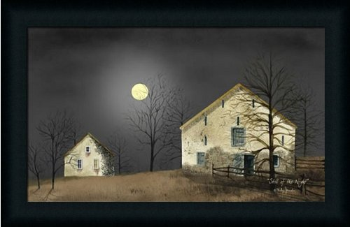 amazoncom still of the night by billy jacobs primitive folk country landscape 23x15 in framed art picture prints posters prints