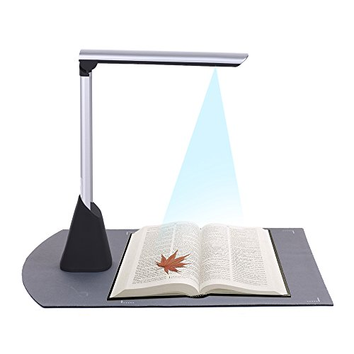 Aibecy Portable High Speed USB Book Image Document Camera Scanner 10 Mega-pixel HD High-Definition Max. A4 Scanning Size with OCR Function LED Light for Classroom Office Library Bank by Aibecy