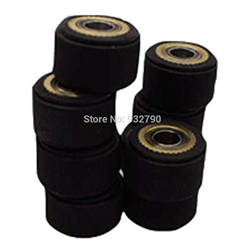FINCOS 1/2/3/4/5/6pcs 3x11x16mm/4x10x16mm/4x10x14mm/4x11x16mm/5x10x16mm/5x11x16mm Pinch Roller Wheel for Roland Vinyl Plotter Cutter - (Color: 6pcs 4x10x14mm) by FINCOS (Image #1)