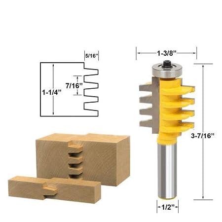 Pour la fabrication artisanale dun tiroir ou autre travail du bois. Fraise /à bois en forme de T Cadre de porte Fraise /à bois de 1,27 cm