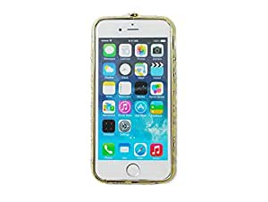 YAMIDA Luxury Crystal Rhinestone Bling Metal Bumper Frame Case Cover for Iphone 6 4.7'' (B)