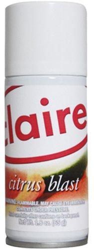 Claire C-222 1.8 Oz. Citrus Blast Micro-Metered Air Freshener Aerosol Can (Case of 12)