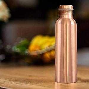Braj Copper 100% Pure Copper 500 ML Water Bottle Set of 1