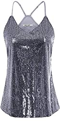 Sleeveless Sequin Tank Tops