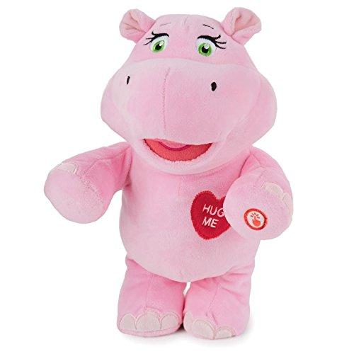 Hallmark Valentine's LPR1141 Hug-Lovin' Hippo Interactive Stuffed Animal -