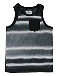"Akademiks Big Boys' ""Paneled Tie-Dye"" Tank Top"