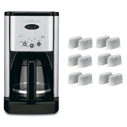 Cuisinart Brew Central DCC-1200 12 Cup Programmable Cofeemaker (Black/Silver) and Everyday 12-Pack Replacement Charcoal Water Filters for Cuisinart Coffee Machines Bundle by Cuisinart