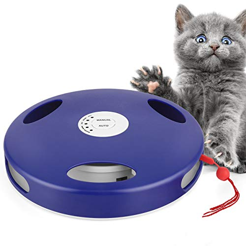 Jouet électrique pour chat avec queue de rat et souris, 5 modes d'action, installation au sol et au mur