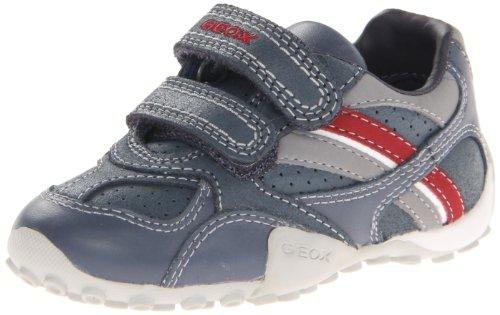 Geox JR Snake Sneaker (Toddler/Little Kid/Big Kid),Navy/Red,24 EU(8 M US Toddler) (Jr Snake Kids Geox)