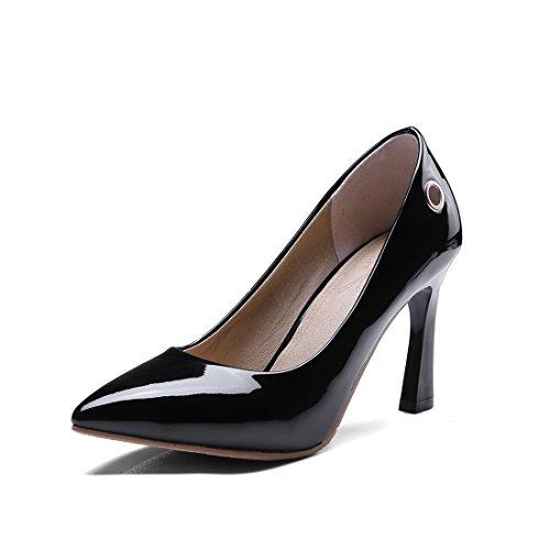 Zapatos de Tacón/Durante la Primavera y el Otoño, Señaló Zapatos de Tacón finalizar el Código Pin Muñequera Zapatos de Mujer black