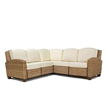 u shaped sectional with large ottoman two chaises sofa for sale home styles cabana banana honey oak finish