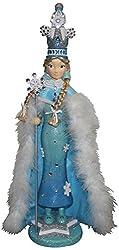 Kurt Adler Hollywood Snow Princess Nutcracker, 20-Inch