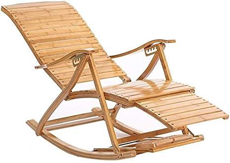 Mecedora de bambú Silla de descanso para adultos Sillones ...