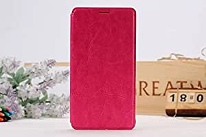 Birdnestoffice Fashion PU Leather Folding Stand Flip Case Cover Skin Protector for Samsung Galaxy Note 4 - Hot Pink