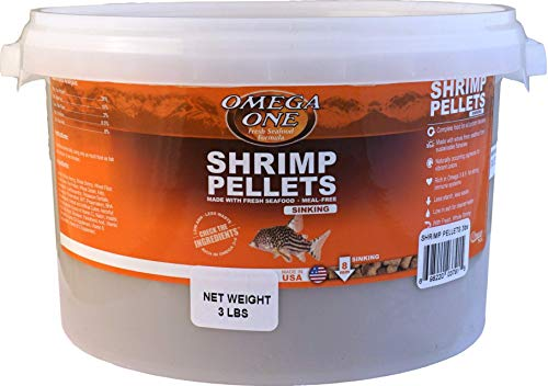 - Omega One Sinking Shrimp Pellets Fish Food 3-Lbs.