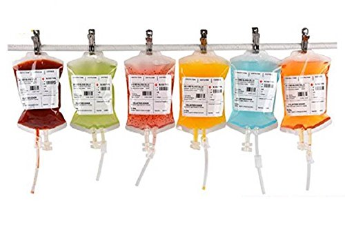 REUSABLE IV BLOOD BAGS HALLOWEEN PARTY HAUNTED HOUSE DRINK CONTAINER DECORATION -