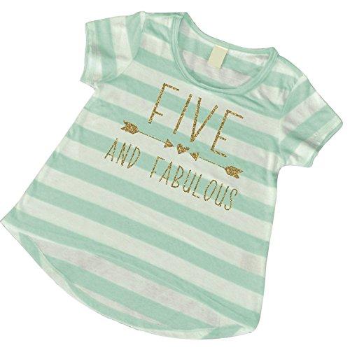 Girl 5th Birthday Shirt, Five and Fabulous Shirt (5T)