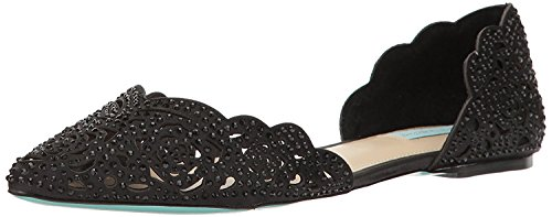 Blue by Betsey Johnson Women's SB-Lucy, Black Satin, 8.5 M US ()