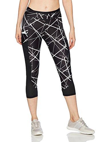 2(X)IST Women's Performance Capri Legging, Lines/Black/White, M
