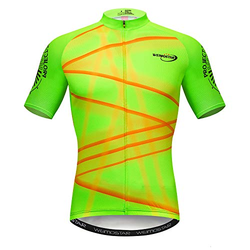 Men's Cycling Jersey Short Sleeve Road Bike Biking Shirt Top Bicycle Cycle Clothes Pro Team Size XL ()