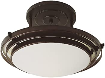 Stewart 2-Light Semi-Flush Mount (Rubbed Oil Bronze)