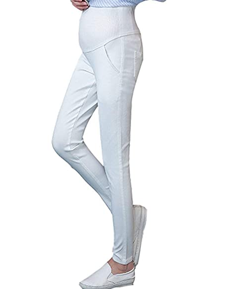 Pantalones de embarazo Mujeres Pantalones de yoga Lápiz ...