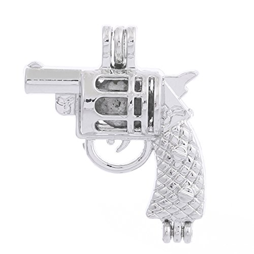 - ZEEWELY 10pcs Gun Silver Plating Bead Cage Locket Pendant - Add Your Own Pearls, Stones, Rock to Cage,Add Perfume and Essential Oils to Create a Scent Fragrance Oil Diffusing Pendant Charms.