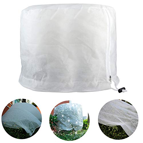 Takefuns Flat Plant Freeze Protection Covers,Shrub Frost Jacket Covers with Zipper,Gardening Protecting Bag,Tree Protector Wrap for Winter