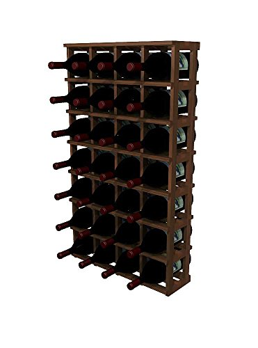 WineMaker Series Wine Rack - 10 Column - 4 Ft - Pine Dark Walnut Stain