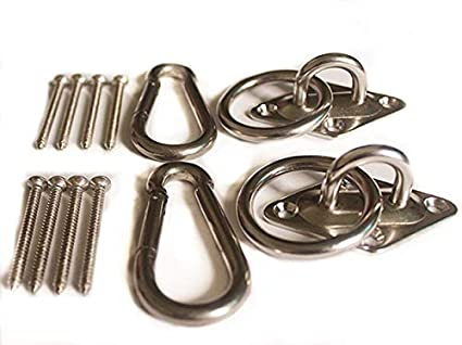 Mhmydz 600 Lb Capacity Premium Hammock Hooks Best Hanging Kit For Indoor Relaxation Set Of Ceiling Hook Hanger Spring Snap Hooks And Screws Durable
