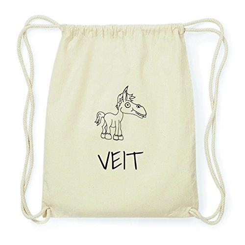 JOllipets VEIT Hipster Turnbeutel Tasche Rucksack aus Baumwolle Design: Pferd XCaD10tw9