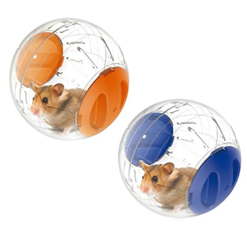 Guinea pig exercise ball amazon emours run about mini 48 inch small animal hamster run exercise ball 2 pack sciox Image collections