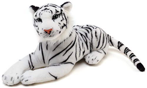 VIAHART Saphed The White Tiger | 17 inch Long (Not Including Tail!) Stuffed Animal Plush | by Tiger Tale Toys -